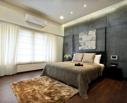 نور مخفی اتاق خواب مدرن