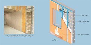 دیوار پوششی کناف (با سازه)