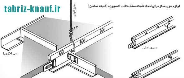 زیرسازی سقف تایل
