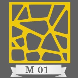 تایل سقفی دکوراتیو کد M1