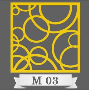 تایل سقفی دکوراتیو کد M3