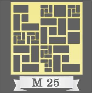تایل سقفی دکوراتیو کد M25