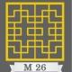 تایل سقفی دکوراتیو کد M26