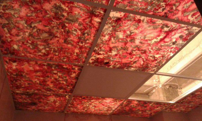 تایل سقفی پتینه رنگی