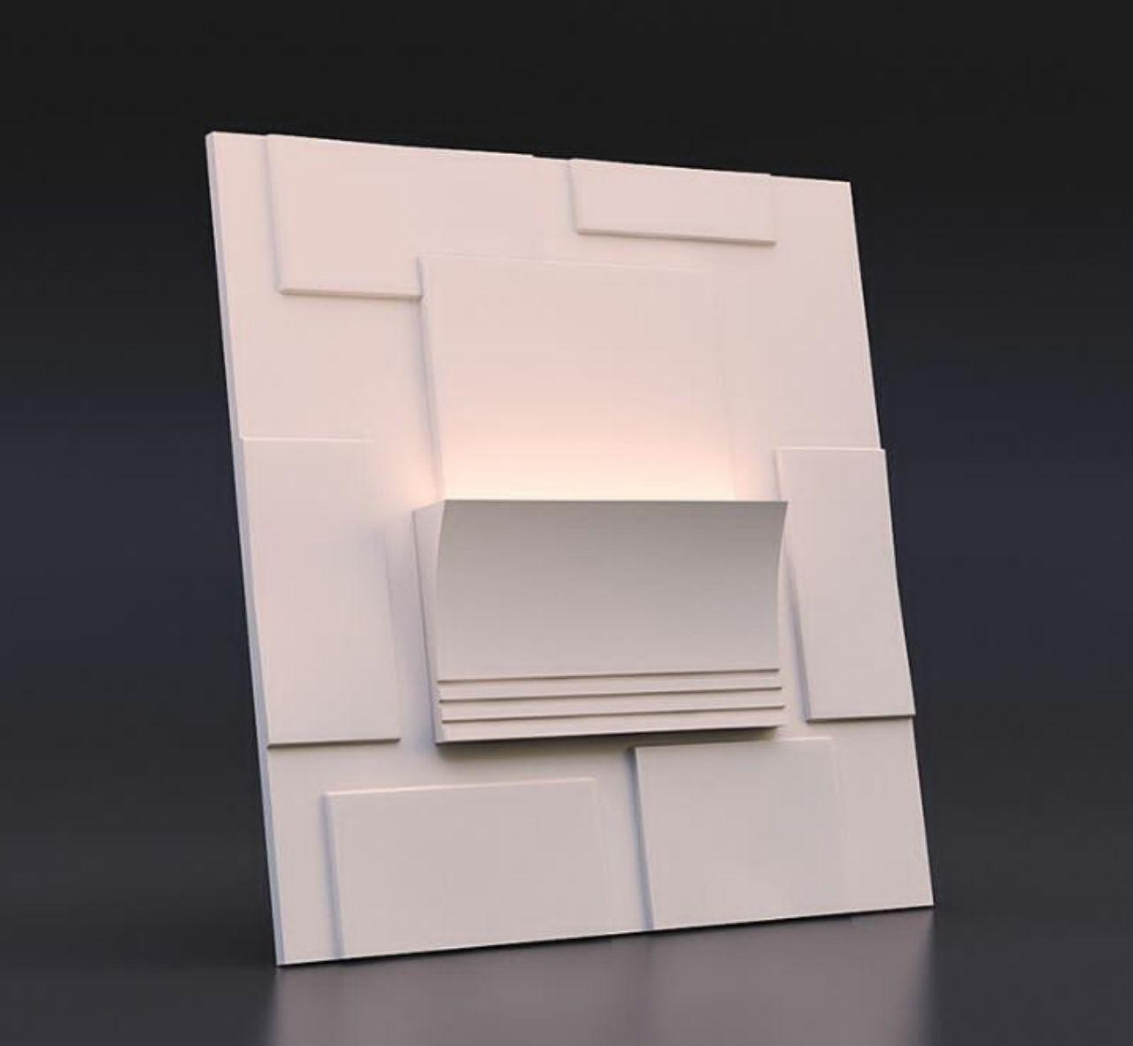 دیوارپوش سه بعدی گچی
